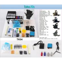 Vente chaude professionnel de tatouage Kit 4 mitrailleuses de tatouage Kit (Tk04 qui effectue)
