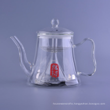 Clear Glass Thermo Coffee Pot Decorative