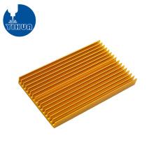 Disipador de calor de PCB de aluminio anodizado dorado