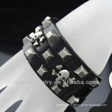 Vente chaude 2014 bracelet en cuir marron pour homme BGL-013