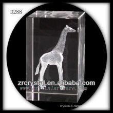 K9 3D Laser Etched Giraffe Inside Crystal Rectangle