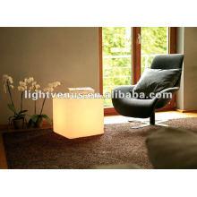 Cubo de plástico LED para club nocturno, fiesta, sala de estar