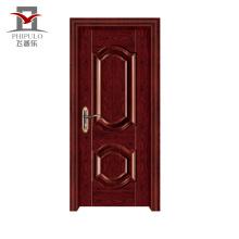 Porta de entrada de madeira de aço do apartamento do OEM Oem novo aceitado High End modelo
