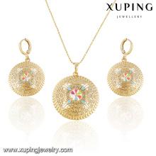 63891- Xuping forme ronde bijoux africains définit la mode de bijoux avec or 18 carats
