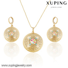 63891- Xuping Round Shape African jewelry sets Jewelry Fashion With 18K Gold