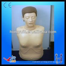 ISO Advanced Computer Manequim de treinamento de CPR Half-body
