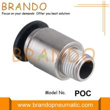 Male Straight Push To Connect Pneumatic Hose Fittings