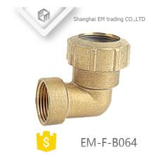 EM-F-B064 Fontanería rosca hembra de 90 grados y ajuste espaciador de la junta de compresión