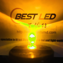 Lente Super Brillante 5mm Amarillo LED 580nm Claro