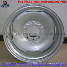 Llantas de acero galvanizado en caliente W10X24 para pivote de riego