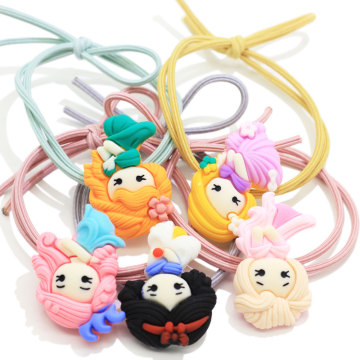 Wholesale Price Baby/Infant/Toddler Princess Design Ponytail Holder Kawaii Elastic Pigtail Birthday Christmas Party Shower