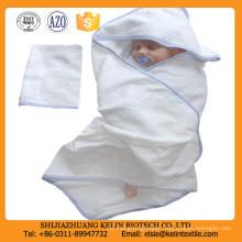 23*51inch zero twist embroidery logo cotton hooded baby bath towel