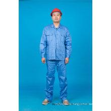 Hohe Qualität Sicherheit 65% Polyester 35% Baumwolle Langarm Arbeitskleidung (BLY2004)