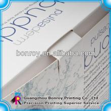 Simple pero elegante productos de belleza embalaje caja de impresión de fábrica