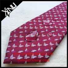 Stain Resistant Polyester Leaves Wholesale Italian Mens Woven Private Label Tie