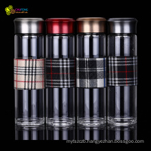Glass Drinking Bottle High Borosilicate Glass Business Water Bottle Office Water Bottle with Cloth Cover