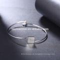 2017 Hersteller Silber Quadrat Liebe Armband mit Herz