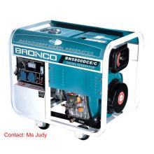 Bn5800dce / C générateurs diesel de cadre ouvert refroidi par air de pression de 5W 186f éclaboussé