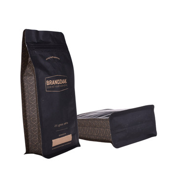 250G kompostierbare Beutel Flat Bottom Coffee Bag Verpackung