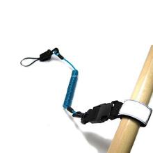 Customized Logo Elastic Kayak Surfing Red PU Paddle Board Leash