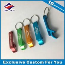 Hochwertiges Keychain Kundenspezifisches Logo-Zink-Legierungs-Flaschen-Öffner Keychain