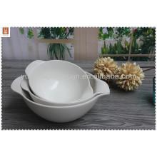Высококачественная миска белого керамического супа