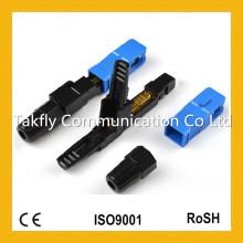 Sc / APC Singlemode mm Eingebetteter Typ Faseroptischer Schnellverbinder / Optischer Schnellverbinder