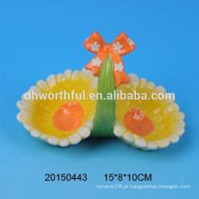 Handpainting cerâmica ovo titular cestas para o dia da Páscoa
