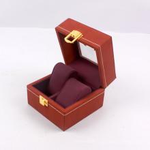 Boîte-cadeau faite sur commande de clamshell avec la fenêtre claire de serrure pour la montre