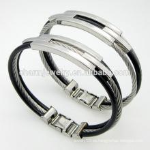 Venta caliente de alta calidad joyería torcida de moda hebilla de acero inoxidable pulsera GSL005