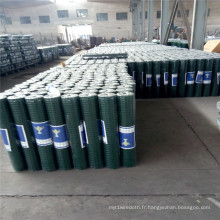 Treillis métallique de soudure en acier vert de PVC