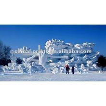 Impresión digital de la estatua de la nieve en tela