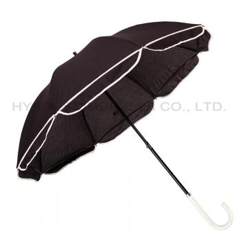 Women's Straight Umbrella mit Jakobsmuschelkante