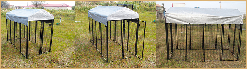 wire welded dog kennel