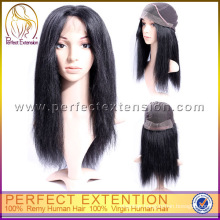 For Black Women China Extra Large Fairy Straight Hair Lace Front Yaki Wig