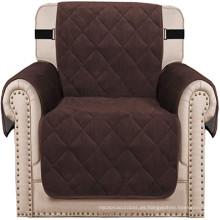 Protector de funda de sillón de terciopelo grueso para sala de estar