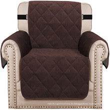 Housse de chaise de canapé épaisse de salon Protecteur de housse de fauteuil matelassé en velours