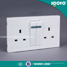 Igoto Al9013 Doble interruptor de pared eléctrico 13A y zócalo