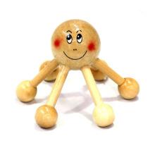 Massajador pessoal da cabeça do cabelo de madeira portátil do punho da alta qualidade do tipo de FQ