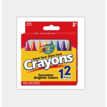 Professional mould design 12 Colours Kids Art pencil crayon set