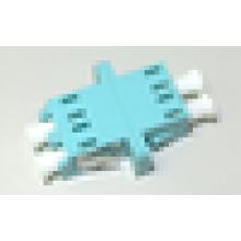 LC / UPC para LC / UPC 10G OM3 duplex SC tipo com flange plástico adaptador de fibra óptica