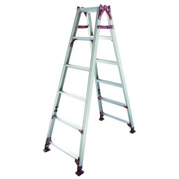 Escalera de aluminio con patas ajustables
