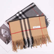 2022 New Winter Couple Style Warm Classic Plaid Scarves Women High Quality Fashion Casual Cashmere Shawl Scarf