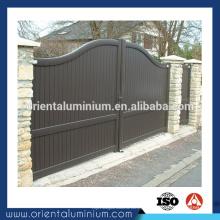 Portão de alumínio durável portão desenhos
