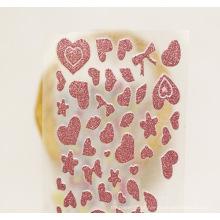 O ouro de Rosa personalizou o decalque cortado etiquetas aleatórias etiqueta do brilho do vinil da cor