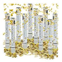 Canon à confettis en mylar doré