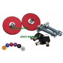 Kits de bloqueio de pinos de liberação rápida para bloqueio da capa do motor de carro com chave