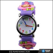 Relógio de lembrancinha de crianças diferentes ao atacado, relógio de bofetada de silicone