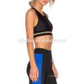 Preto liso Lycra yoga desgaste sexy mulheres ginásio wear set