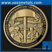 fertigen Sie Metallmünzen besonders an, kundenspezifische spezielle Operationsbefehl gravierbare Herausforderungsmünze